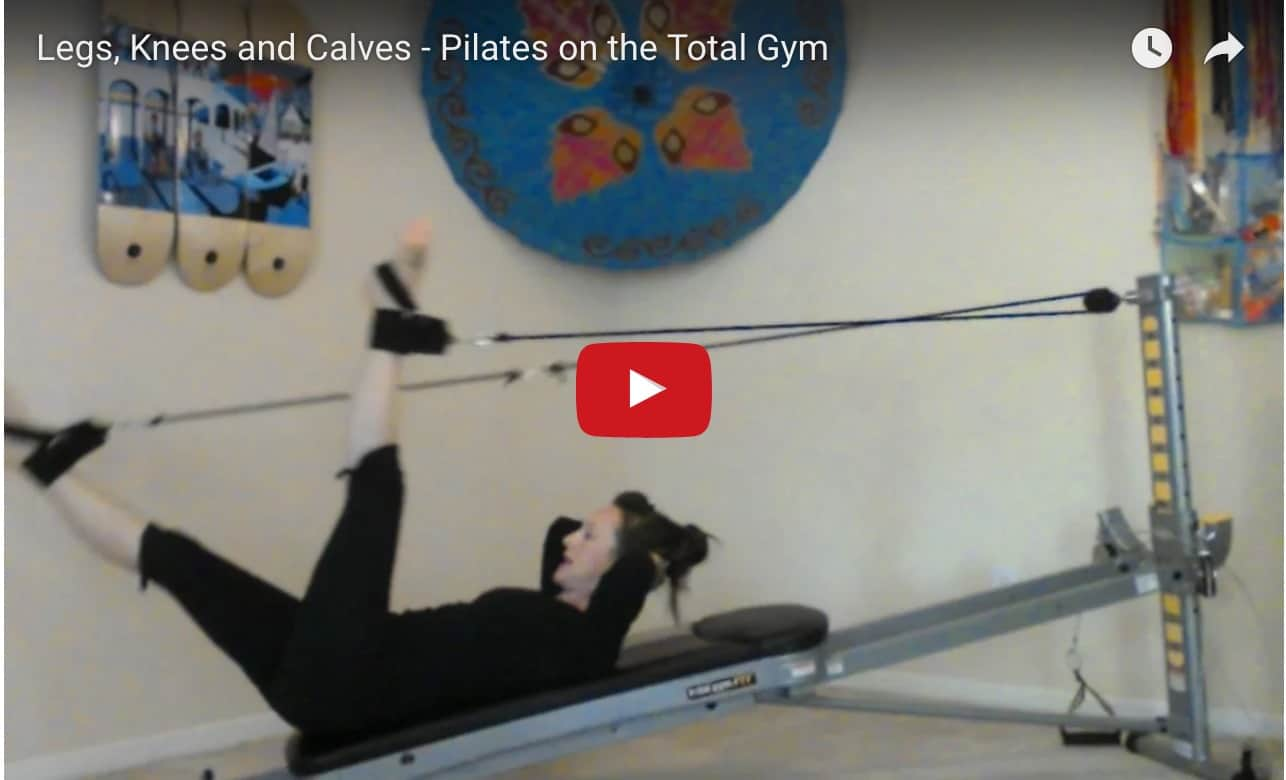 Legs, Knees and Calves - Pilates on the Total Gym video