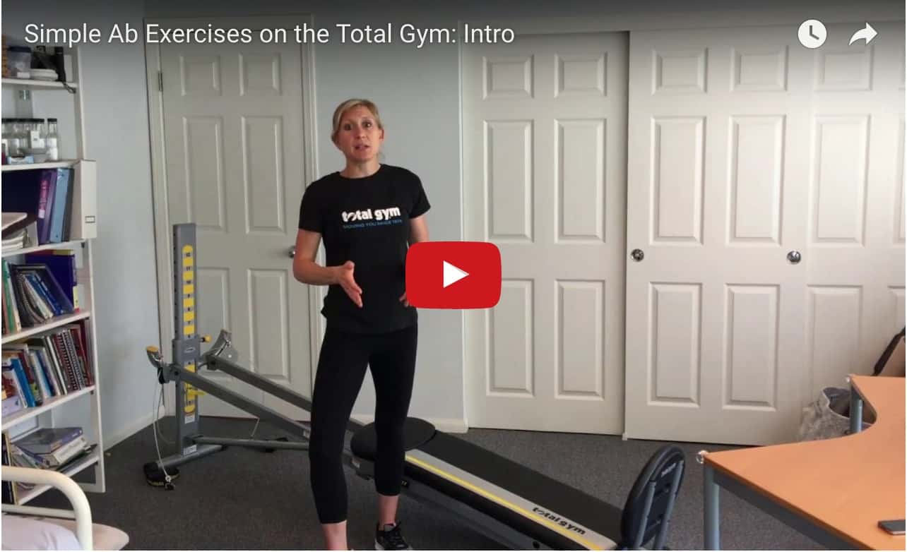 Simple Ab Exercises on the Total Gym video