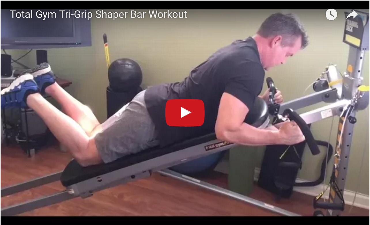 Total Gym Tri-Grip Shaper Bar Workout - Total Gym Pulse