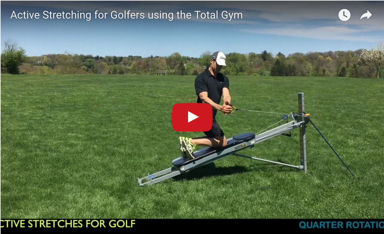 Active stretching for golfers using the total gym total for Gimnasio total