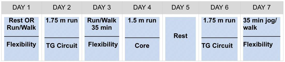 train-for-5k-week2-schedule