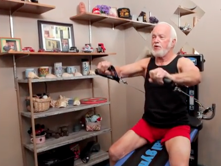 Jimmy brown on the total gym total gym pulse for Gimnasio total