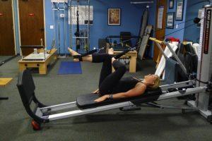 Total Gym Figure 4 Stretch