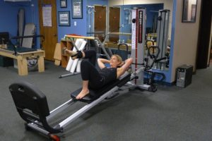 Total Gym Leg Thrust