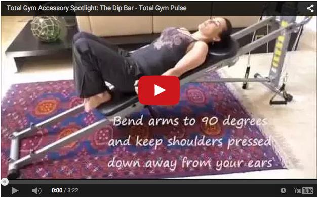 Total Gym Dip Bar Accessory