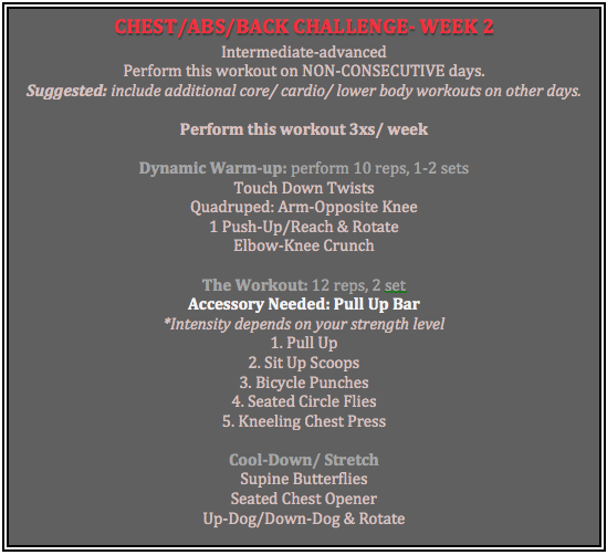 chest abs back week 2 chart