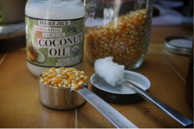 Try adding coconut oil to your popcorn!