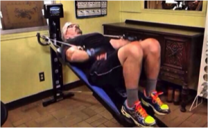 Mike Campbell Iron cross on the total gym