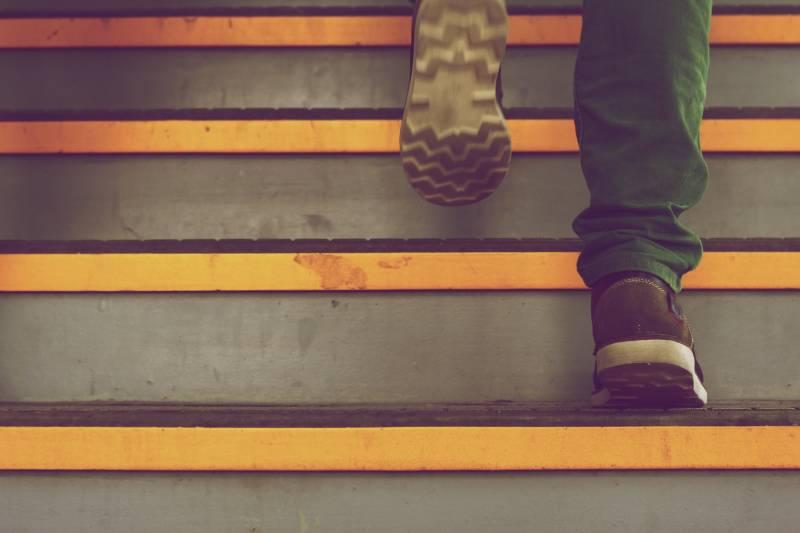 sneaking in steps