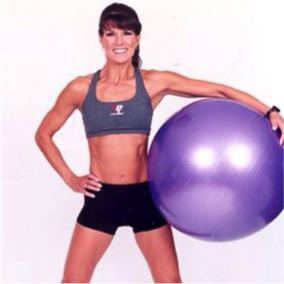 Rosalie Brown with an Exercise Ball