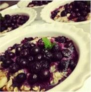 wild blueberry almond oatmeal
