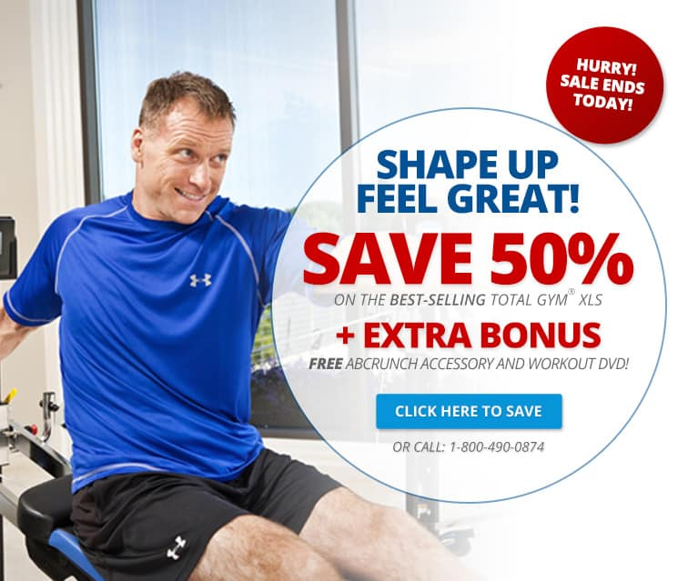 GET STARTED WITH TOTAL GYM FOR ONLY 100