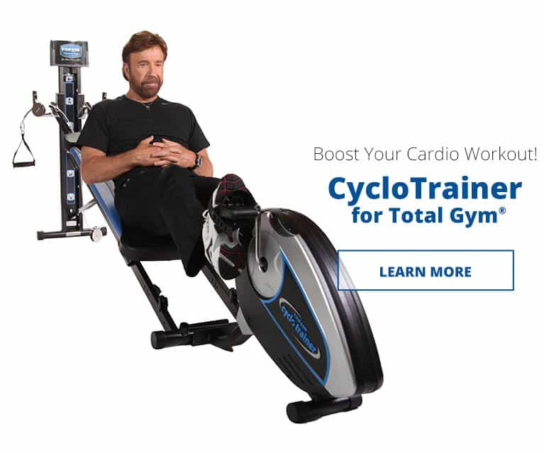 Boost your Total Gym cardio workout with the Total Gym CycloTrainer