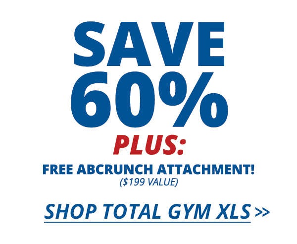Save 60% on the Total Gym XLS