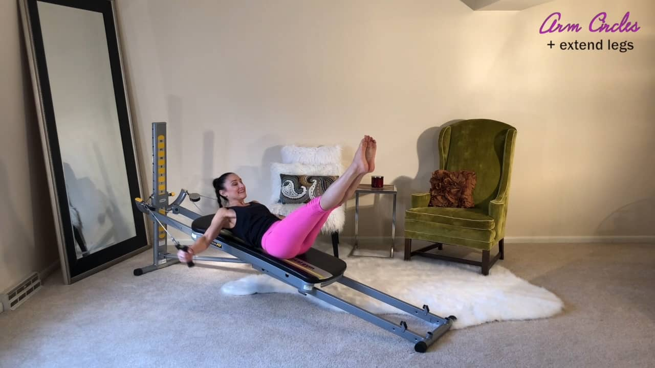 5 Core Power Pilates Moves Using the Total Gym Cables