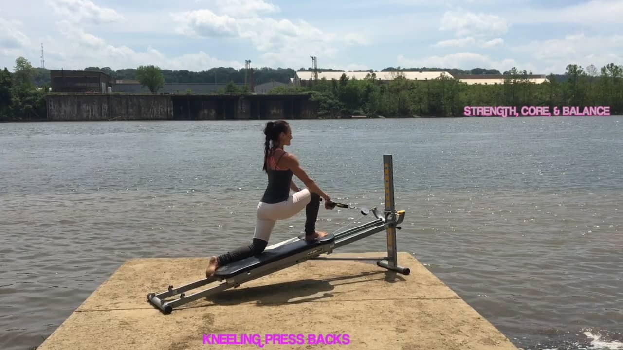 Stand Up Paddleboard Yoga on the Total Gym