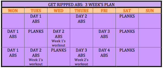 Ripped Abs calendar