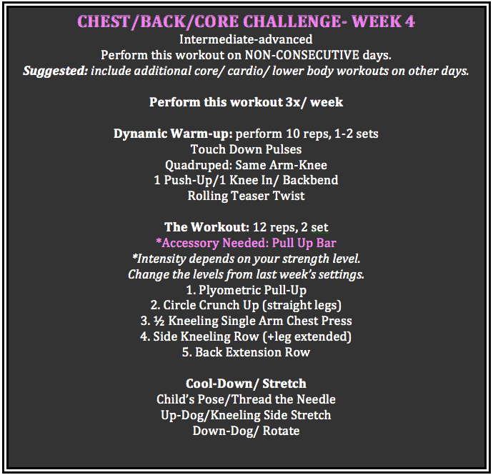 chest abs back week 4