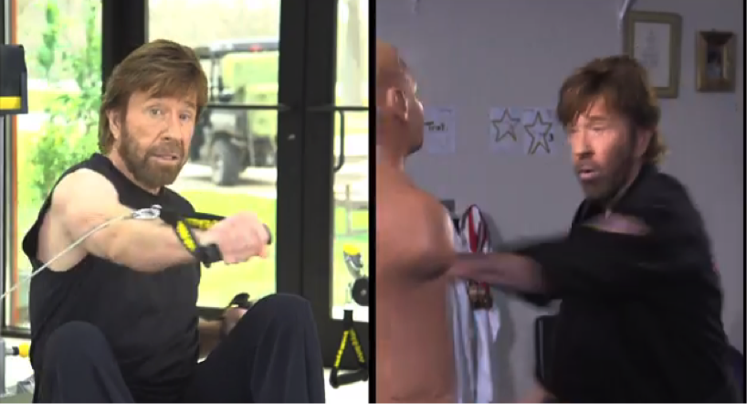 Chuck Norris uses the Total Gym to stay in shape for martial arts