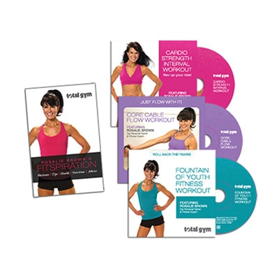 Rosalie Brown 3-DVD Set & Fitspiration Guide - Total Gym