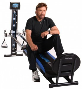 Chuck Norris on the Total Gym XLS