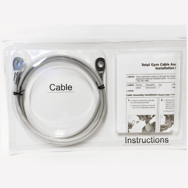 Total Gym Cable Replacement and Instructions